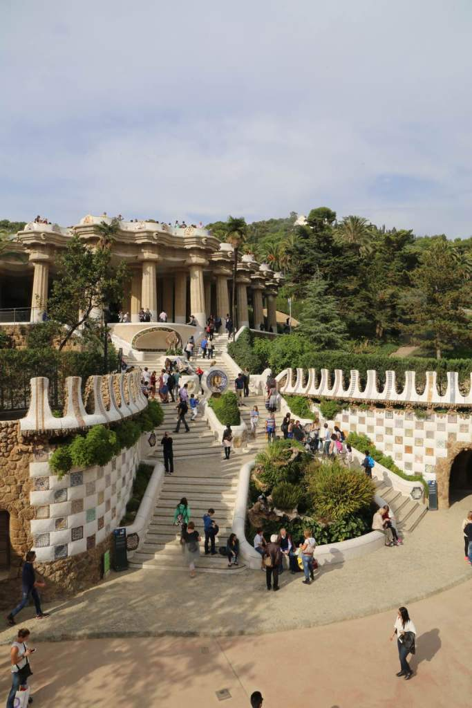 Park Güell from the front
