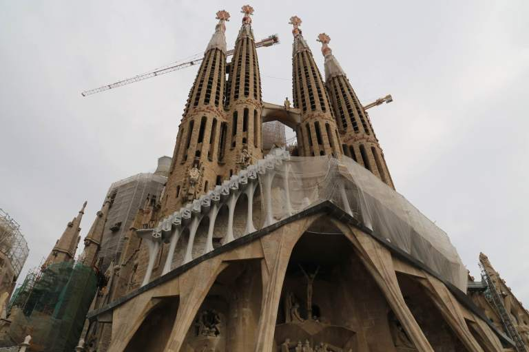 Exterior of Sagrada Familia - as you can see, construction is ongoing.