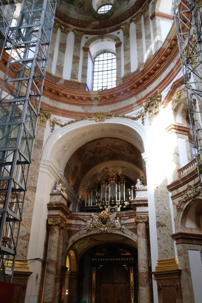 The organ at Karlskirche