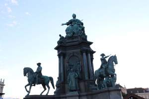 Maria Theresa statue in the middle of the square
