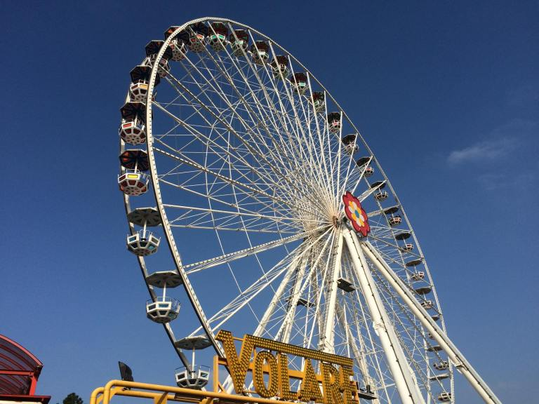The smaller of the two ferris wheels at the Prater