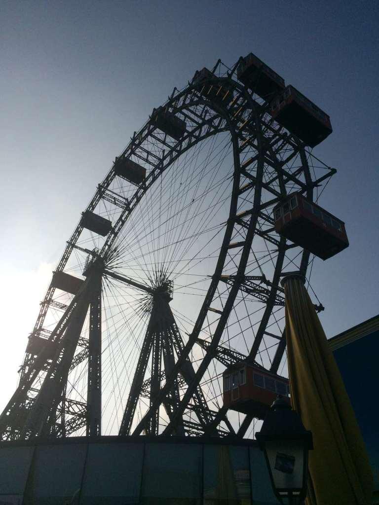 The famous ferris wheel: the Reisenrad
