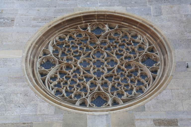 Exterior of the Rose Window