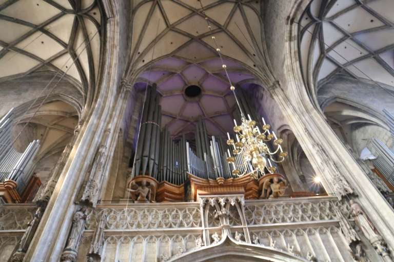 Organ at the Stephansdom