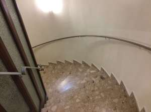 Spiral staircase to and from my floor